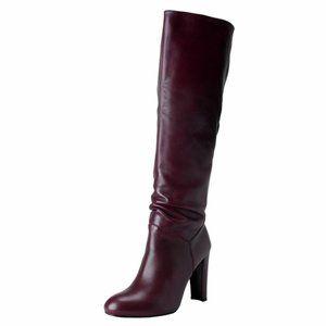 Stuart Weitzman Purple Leather Heel Boots Shoes